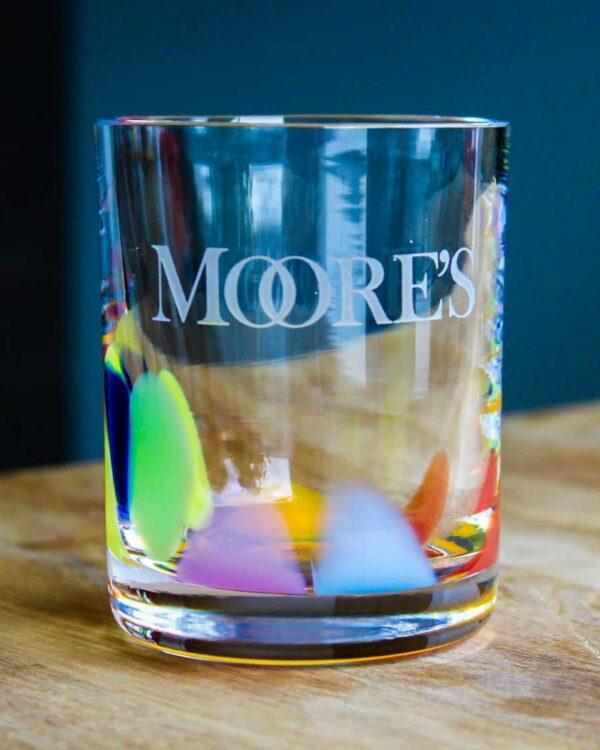 Moore's WildFlower branded Whiskey Tumbler - Waterford Crystal